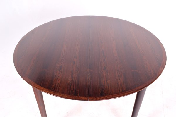 Danish Extendable Round Rosewood Dining Table 1960s For Sale At Pamono