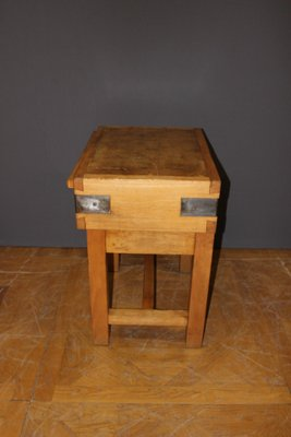 Table De Boucher En Hetre 1940s En Vente Sur Pamono