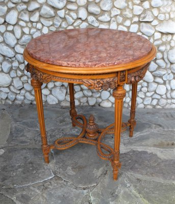 Belgian Round Marble Top Side Table