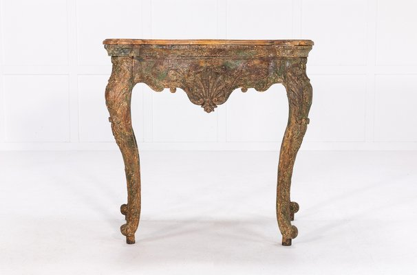 Spanish Carved Pine Console Table
