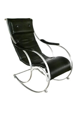 Wrought Iron Rocking Chair By Peter Cooper For Rw Winfield Co