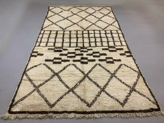 Vintage Moroccan Beni Ourain Rug for