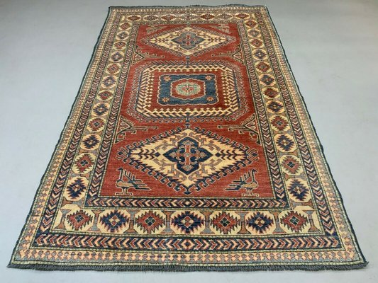 Mid Century Afghan Kazak Rug For
