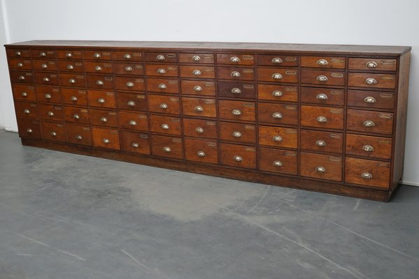 Large Dutch Oak Apothecary Cabinet