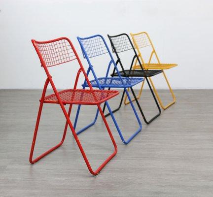 Ikea Sedie Pieghevoli Legno.Sedie Pieghevoli Di Niels Gammelgaard Per Ikea Anni 80 Set Di 4