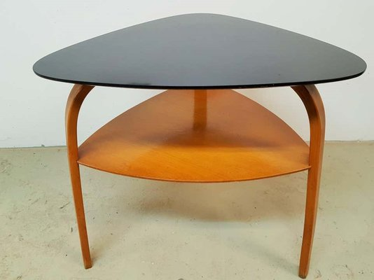 Mid Century French Wood Coffee Table By Hugues Steiner For Sale At Pamono