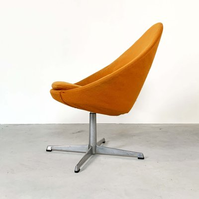 Luxembourg Lounge Stoel.Small Orange Egg Swivel Lounge Chair From Pastoe 1960s For Sale