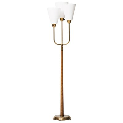 Swedish 3 Light Floor Lamp 1950s For