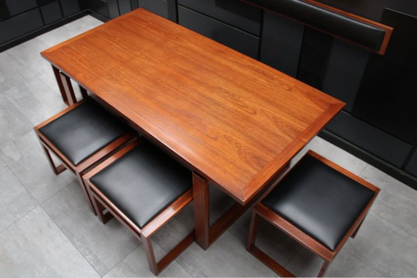 Mid Century Danish Teak Dining Table Chairs Set By Erik Buch Set Of 8 For Sale At Pamono