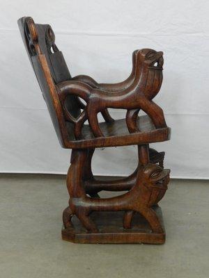 sillas africanas de madera