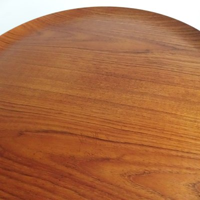 Tavolino pieghevole in teak e legno ebanizzato di Svend Åge