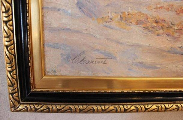 Peinture De Plage Par Clement Danemark Annees 30 En Vente Sur Pamono
