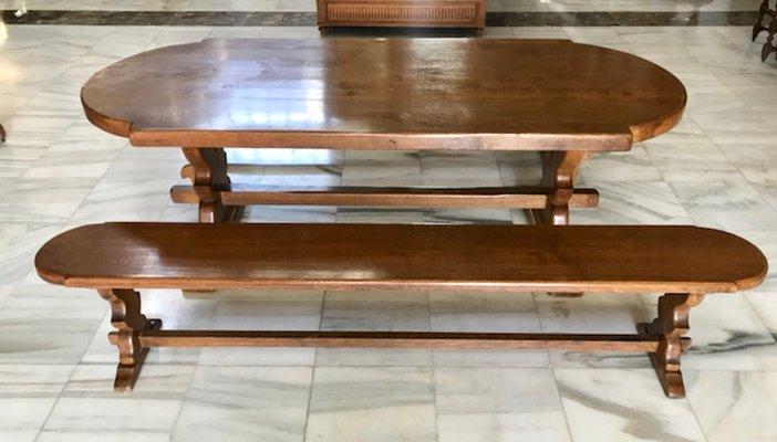 Vintage Oak Monastery Dining Table, Vintage Oak Dining Room Set