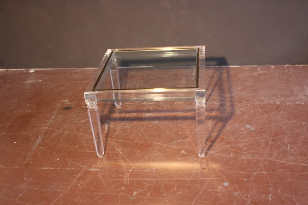 Italian Plexigl Gl Coffee Table