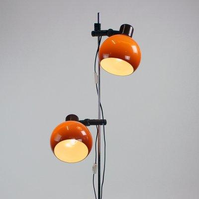 Mid Century Orange Floor Lamp, 1960s