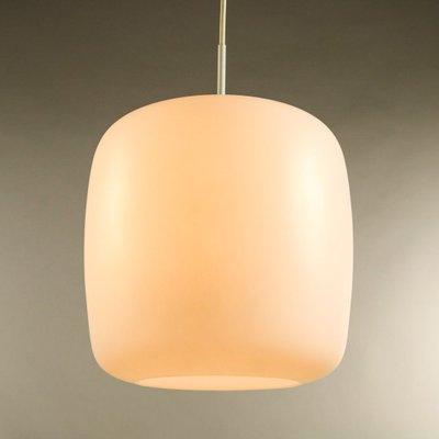 Große Glas Hängelampe von Doria Leuchten, 1960er