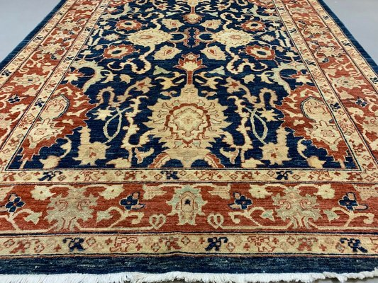 Large Vintage Afghan Wool Kazak Rug For