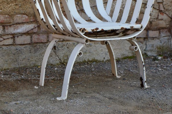 Antique Wrought Iron Garden Chairs Set Of 2 For Sale At Pamono