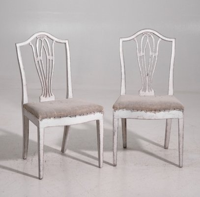 Antique Gustavian Dining Chairs Set Of