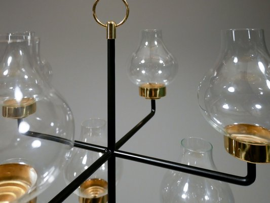 Chandelier by Anders Pehrson for Ateljé Lyktan, 1960s