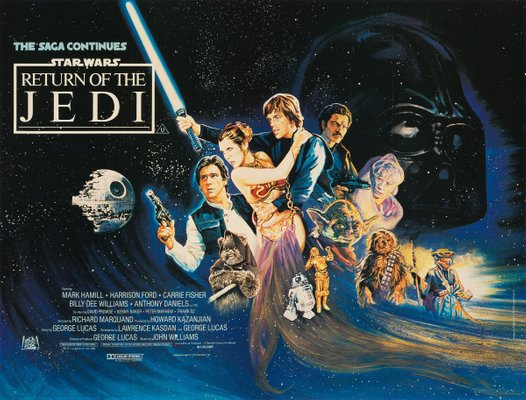 Star Wars: Return of the Jedi Poster by Josh Kirby, 1983 for sale at Pamono