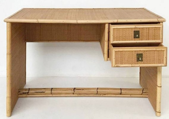 Bamboo And Rattan Desk From Del Vera