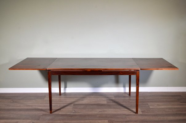 Mid Century Danish Rosewood Extendable Dining Table From Clausen Son For Sale At Pamono