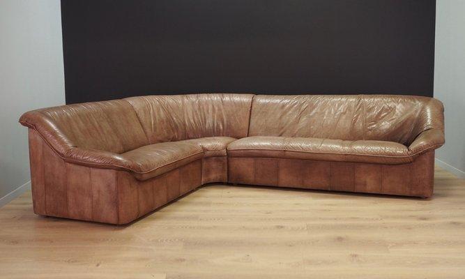 Leather Corner Sofa 1970s Bei Pamono