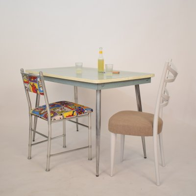 Italian Formica Chrome Dining Table 1950s For Sale At Pamono