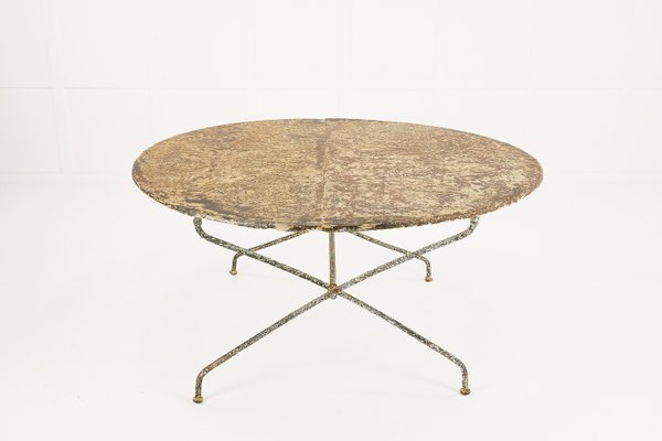 Large French Wrought Iron Table 1920s