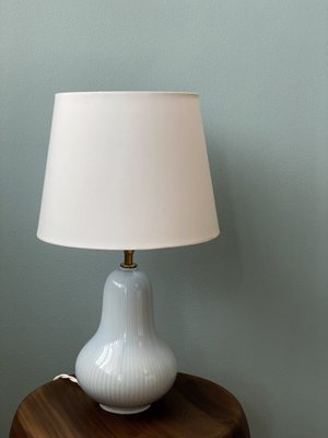 Blue Table Lamp by Gunnar Nylund for Rörstrand, 1940s
