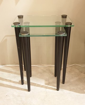 Gl And Black Wood Nesting Tables