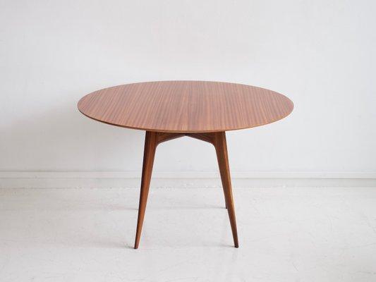 Italian Modern Round Wooden Dining, Modern Round Dining Set