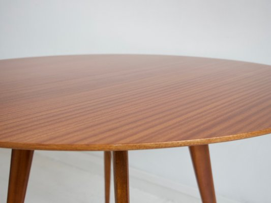 Italian Modern Round Wooden Dining Table 1950s For Sale At Pamono