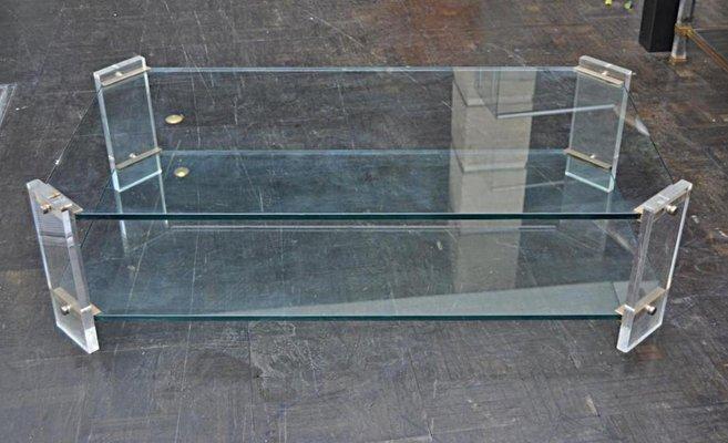 Vintage Plexigl Coffee Table 1970s