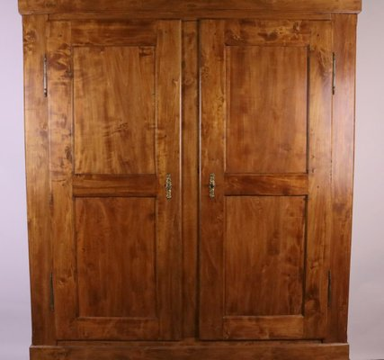 Biedermeier Poplar Wood And Cherry Wood Stain Cabinet 1870s For