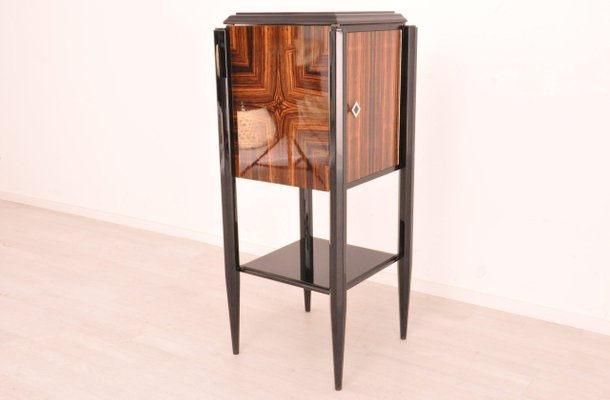 Small Art Deco Macassar Bar Cabinet For Sale At Pamono