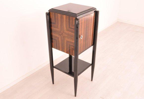 Small Art Deco Macassar Bar Cabinet For, Small Bar Furniture