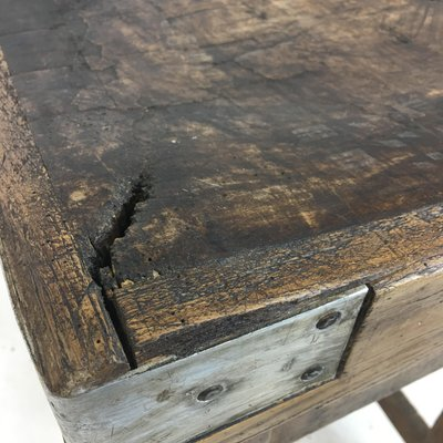 Antique French Butchers Block For