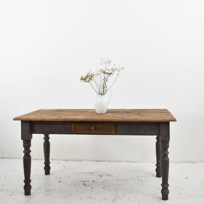 Vintage Reclaimed Farmhouse Kitchen Table For Sale At Pamono