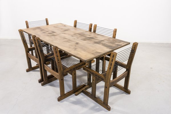 Vintage Shaker Dining Table Chairs Set From Soborg Mobelfabrik Set Of 7 For Sale At Pamono