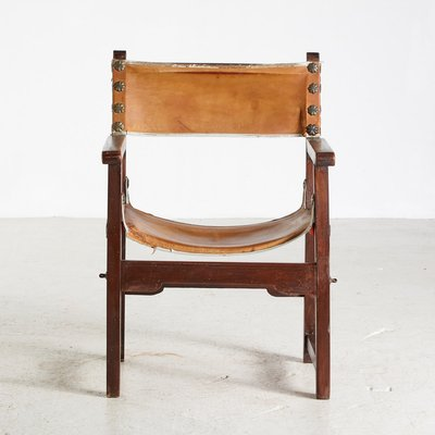 Vintage Hand Crafted Leather And Oak