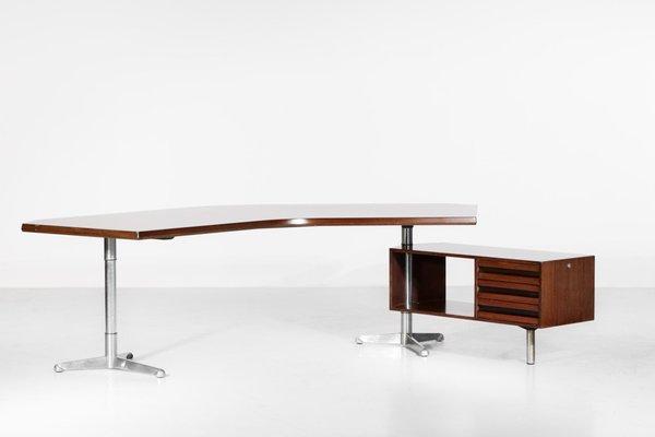Italian T96 Boomerang Desk By Osvaldo Borsani For Tecno 1950s For