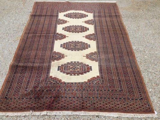 Vintage Turkoman Handmade Bokhara Rug
