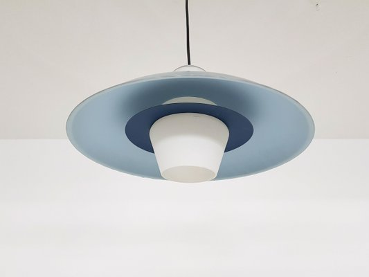 Glass & Metal Pendant Lamp by Louis Kalff for Philips, 1950s