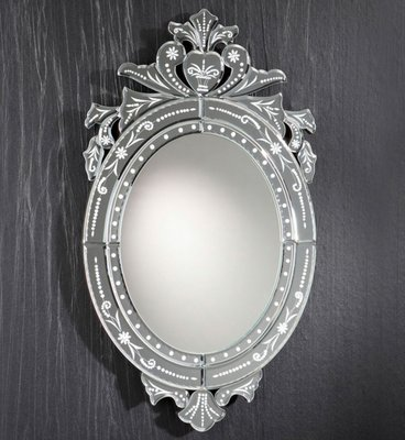New Oval Venetian Mirror By Zenza For Sale At Pamono