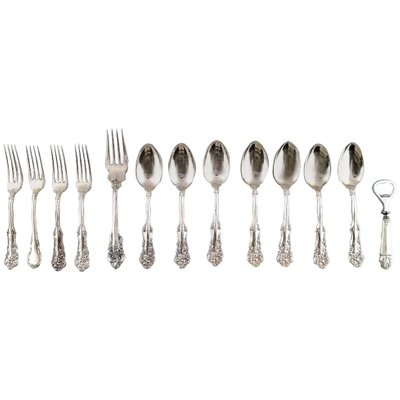 SPANISH LACE S WALLACE STERLING LUNCH FORK