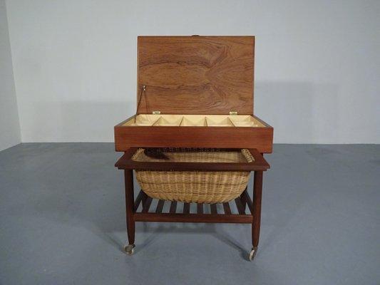 Danish Teak Sewing Cart, 1960s