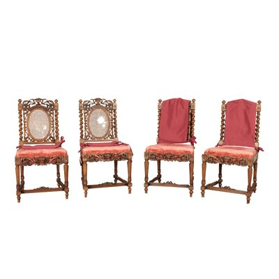 Antique Dining Chairs Set Of 4 For Sale At Pamono