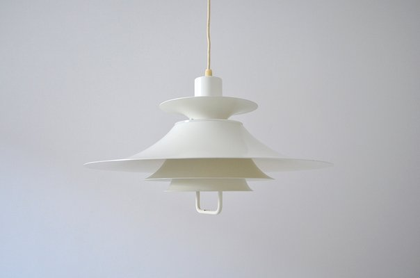 Scandinavian White Pendant Lamp from Design Light Demark, 1960s